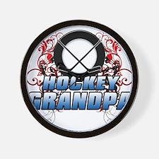 Hockey Grandpa (cross).png Wall Clock