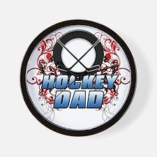 Hockey Dad (cross) copy.png Wall Clock