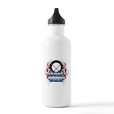 Hockey Dad (cross) copy.png Water Bottle