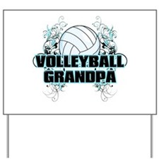 Volleyball Grandpa (cross).png Yard Sign
