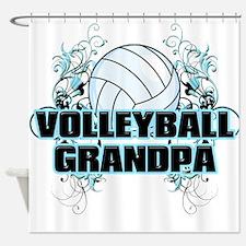 Volleyball Grandpa (cross).png Shower Curtain