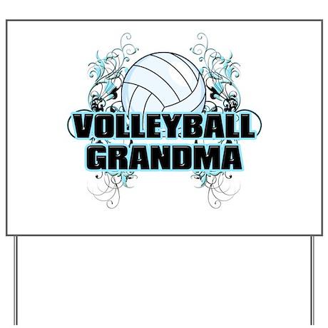 Volleyball Grandma (cross).png Yard Sign