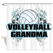 Volleyball Grandma (cross).png Shower Curtain