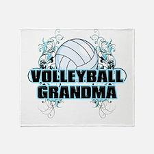Volleyball Grandma (cross).png Throw Blanket