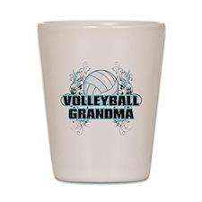 Volleyball Grandma (cross).png Shot Glass