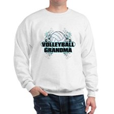 Volleyball Grandma (cross).png Sweatshirt
