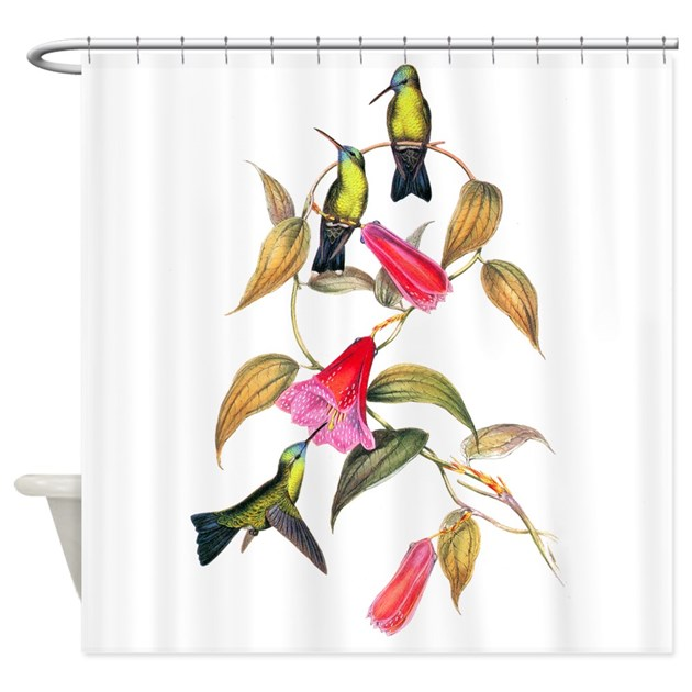 Hummingbirds Shower Curtain By BirdsandFlowers
