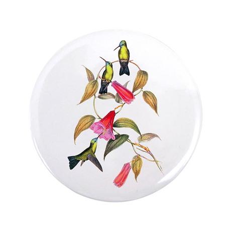 "Hummingbirds 3.5"" Button (100 pack)"