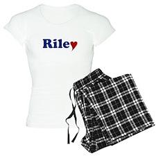 Riley with Heart Pajamas
