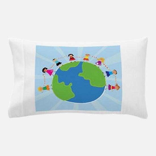 Kids Holding Hands Pillow Case
