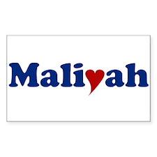 Maliyah with Heart Decal