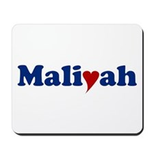 Maliyah with Heart Mousepad