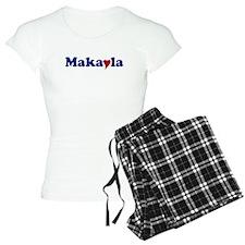 Makayla with Heart Pajamas