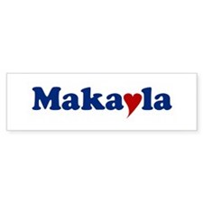 Makayla with Heart Car Sticker