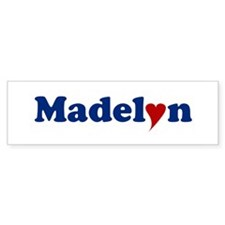 Madelyn with Heart Bumper Bumper Sticker