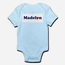 Madelyn with Heart Infant Bodysuit