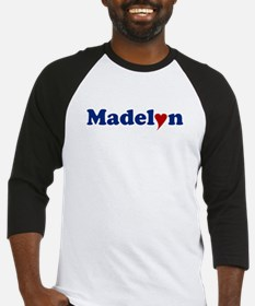 Madelyn with Heart Baseball Jersey