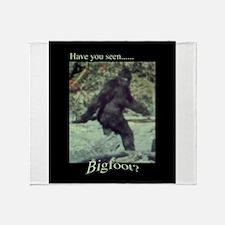Have You Seen BIGFOOT? Throw Blanket