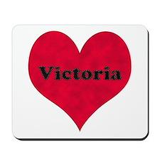 Victoria Leather Heart Mousepad