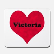 Victoria Leather Heart Mousepad