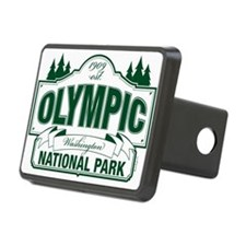 Olympic National Park Green Sign Hitch Cover