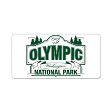Olympic National Park Green Sign Aluminum License