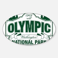 Olympic National Park Green Sign Decal