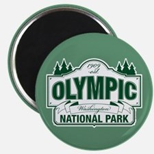 Olympic National Park Green Sign Magnet
