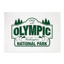 Olympic National Park Green Sign 5'x7'Area Rug
