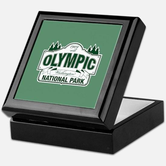 Olympic National Park Green Sign Keepsake Box