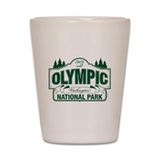 Olympic National Park Green Sign Shot Glass