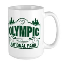 Olympic National Park Green Sign Mug