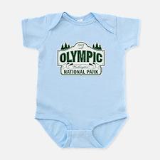 Olympic National Park Green Sign Infant Bodysuit