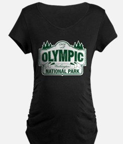 Olympic National Park Green Sign T-Shirt