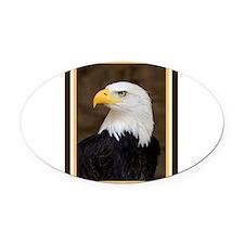 American Bald Eagle Oval Car Magnet