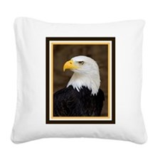 American Bald Eagle Square Canvas Pillow