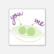 """You And Me Square Sticker 3"""" x 3"""""""