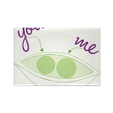 You And Me Rectangle Magnet