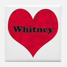 Whitney Leather Heart Tile Coaster