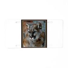 Cougar Cat Aluminum License Plate