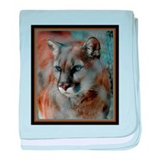 Cougar Cat baby blanket