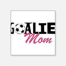 """Goalie Mom Square Sticker 3"""" x 3"""""""