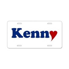 Kenny with Heart Aluminum License Plate