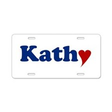 Kathy with Heart Aluminum License Plate
