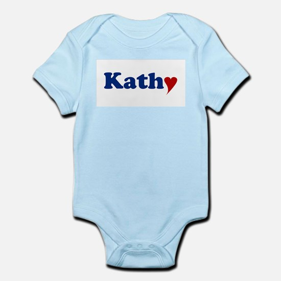 Kathy with Heart Infant Bodysuit