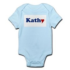 Kathy with Heart Onesie