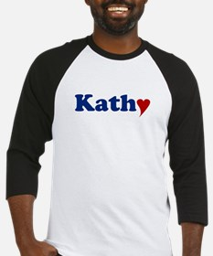 Kathy with Heart Baseball Jersey