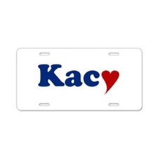Kacy with Heart Aluminum License Plate