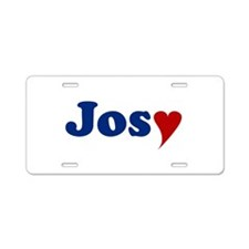 Josy with Heart Aluminum License Plate