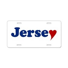 Jersey with Heart Aluminum License Plate
